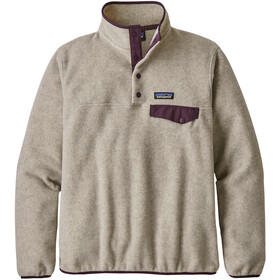 Patagonia Synchilla Snap-T Lightweight Pullover Dam Oatmeal Heather w/Deep Plum